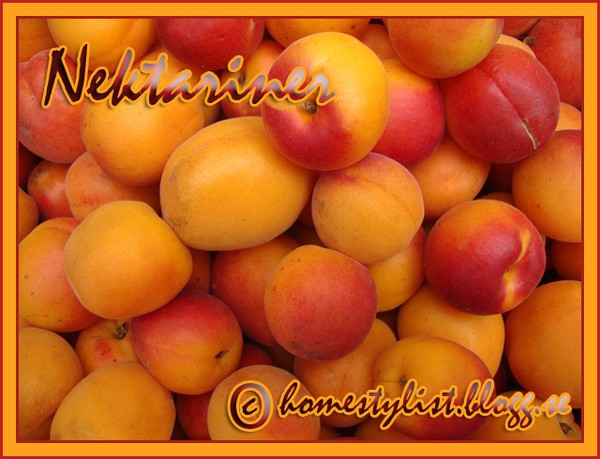 Nektariner. Nectarines. Copyright homestylist.blogg.se