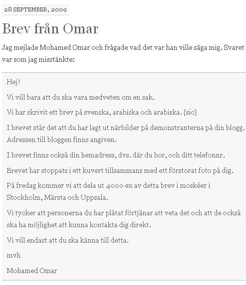 http://nordicdervish.wordpress.com/2009/09/28/brev-fran-omar/ - Screenshot