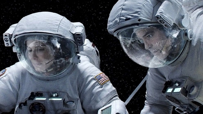 gravity sandra bullock george clooney moon explorer space