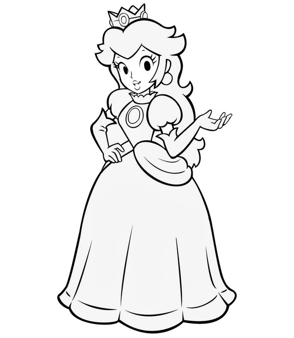 princess toadstool coloring pages - photo#7