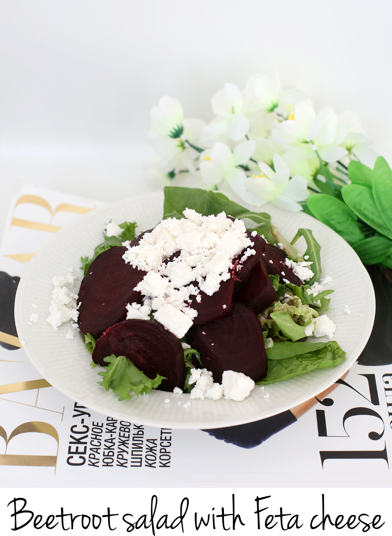 beetroot salad with festa cheese