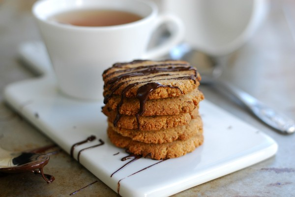 Healthy honey cookies (gluten free, no sugar added) - Hälsosamma honungskakor (glutenfria, utan tillsatt socker)