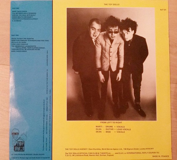 Toy Dolls Bare Faced Cheek
