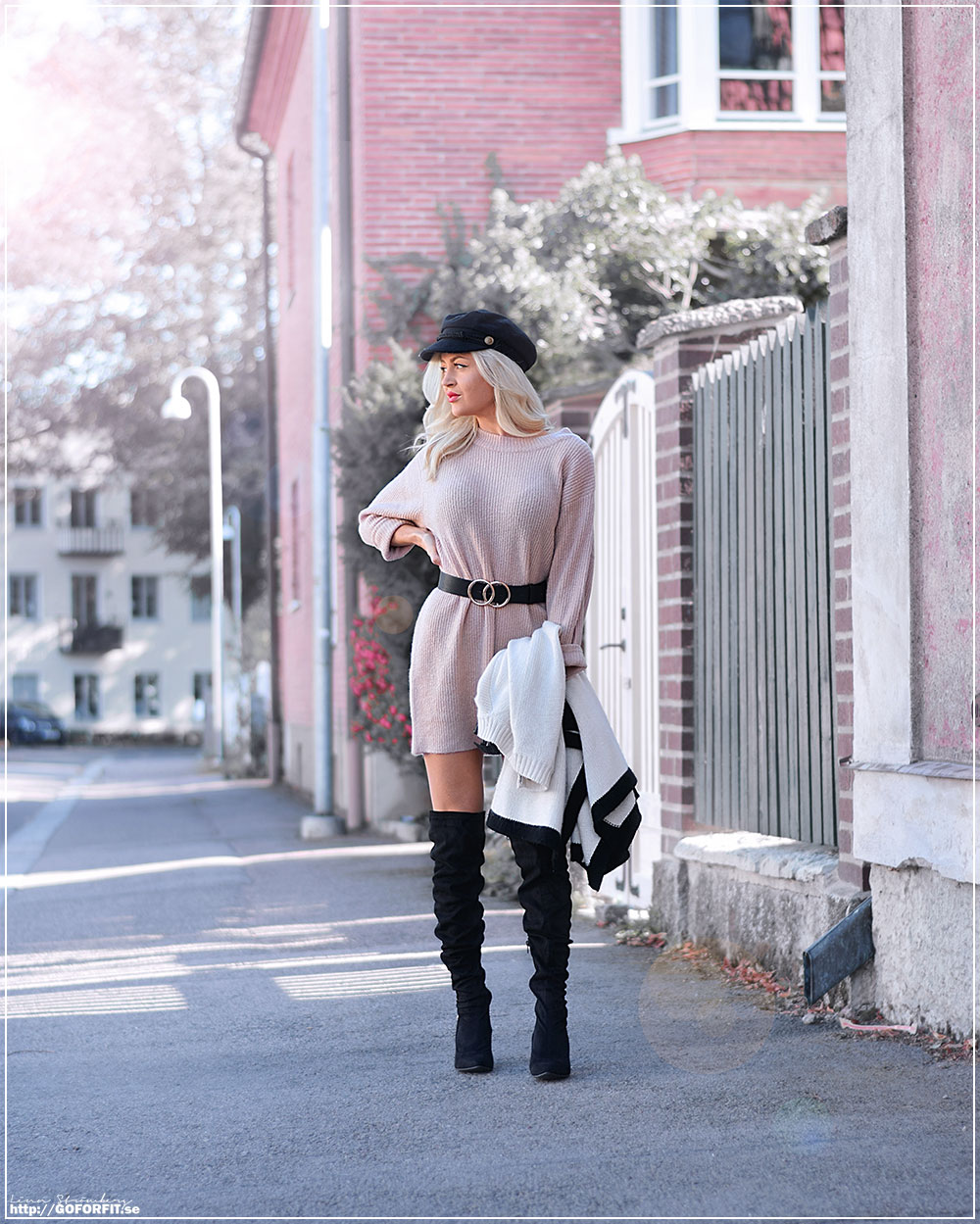 GoForFit.se Knitted Sweater & Overknee Boots