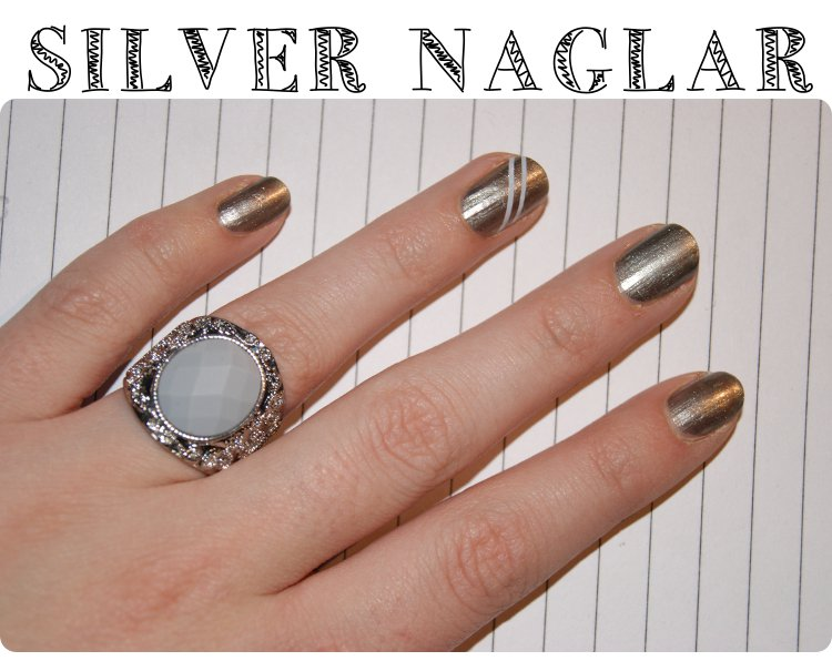Silver naglar & striping tape