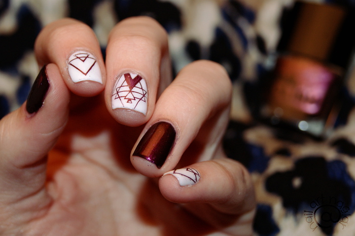 Negative Space Pattern Nails