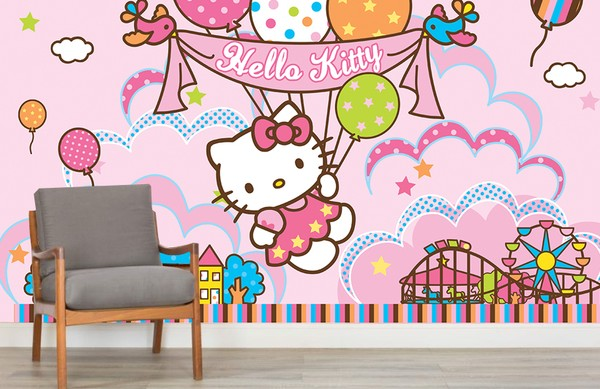 Flickrum Tapet Hello Kitty Tapet Baby Tapet Barntapeter Tjejtapet Flicktapet Babyrum