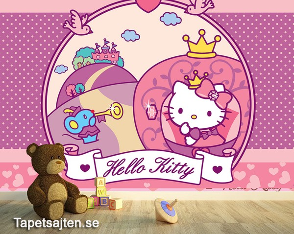 Hello Kitty Tapet Baby Tapet Barntapeter Tjejtapet Flickrum