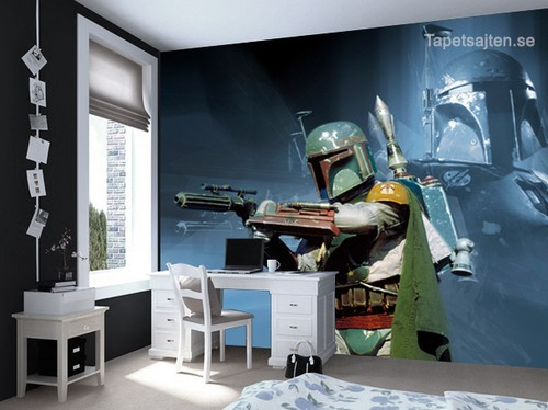 star wars tapet boba fett ungdomsrum killrum pojkrum barnrum