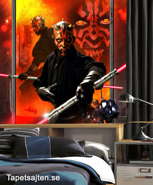 star wars tapet darth maul barntapet fototapet