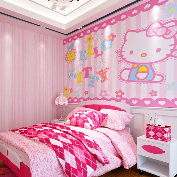 tapet flickrum hello kitty tapet flicktapet rosa
