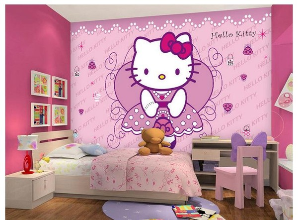 Hello Kitty Tapet Rosa Tapeter Barn