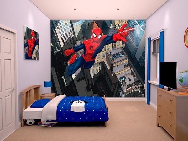 Fototapet barn barn tapet spiderman barnrum marvel fototapet killrum pojkrum