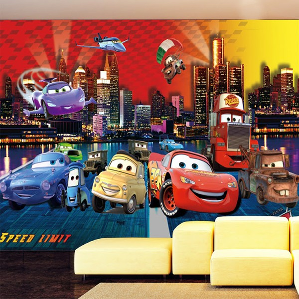 Tapet Bilar Disney Cars Tapet Barn Fototapet