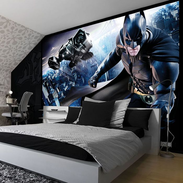 H ftiga ungdomstapeter bilder p riktigt coola tapeter i for Batman mural wallpaper uk