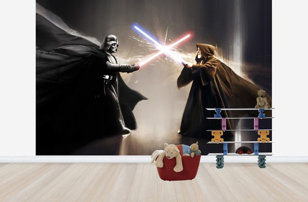 Star Wars Tapet Fototapet Tapeter Darth Vader Obi-One Kenobi