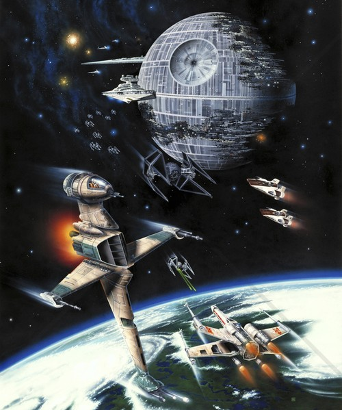 starwars tapet death star