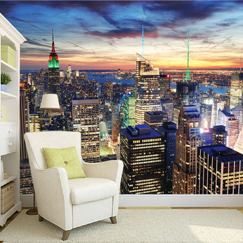 Fototapet New York Tapet Manhattan Skyline