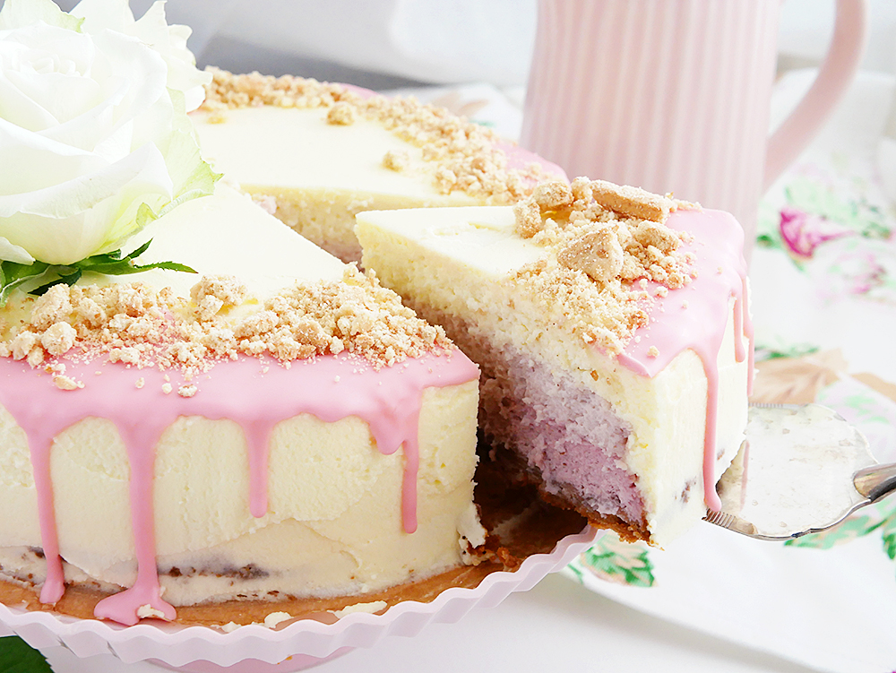 Ombre cheesecake: Just put some frosting on it and everything will be fine!
