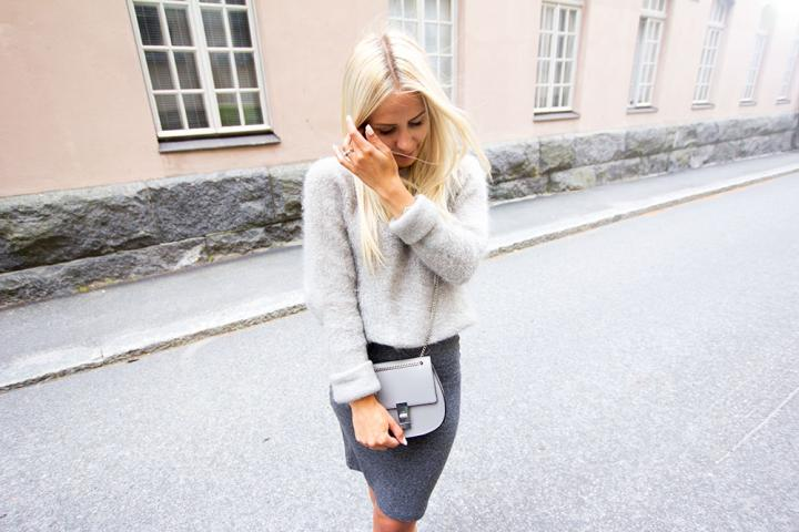 All grey autumn outfit