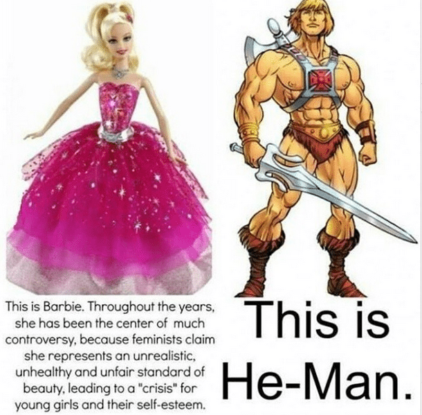 he man barbie
