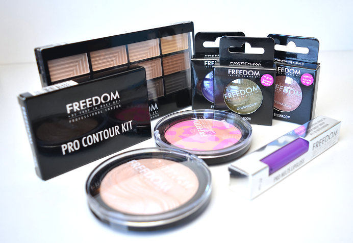 freedom makeup revolution haul review swatches