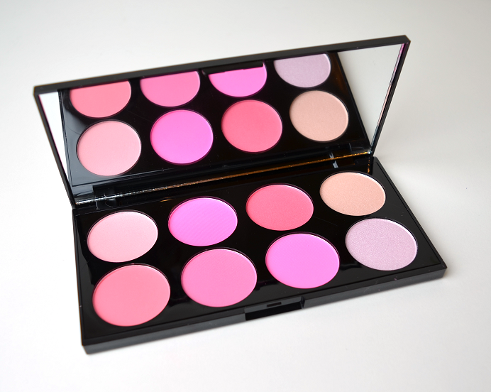 makeuprevolution all about pink blush palette