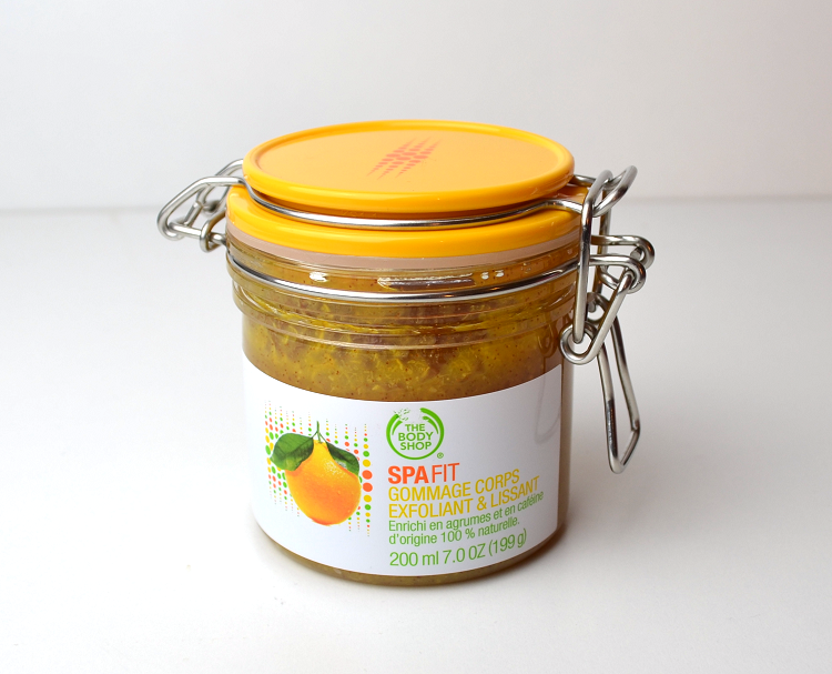 the body shop spa fit smoothing and refining scrub