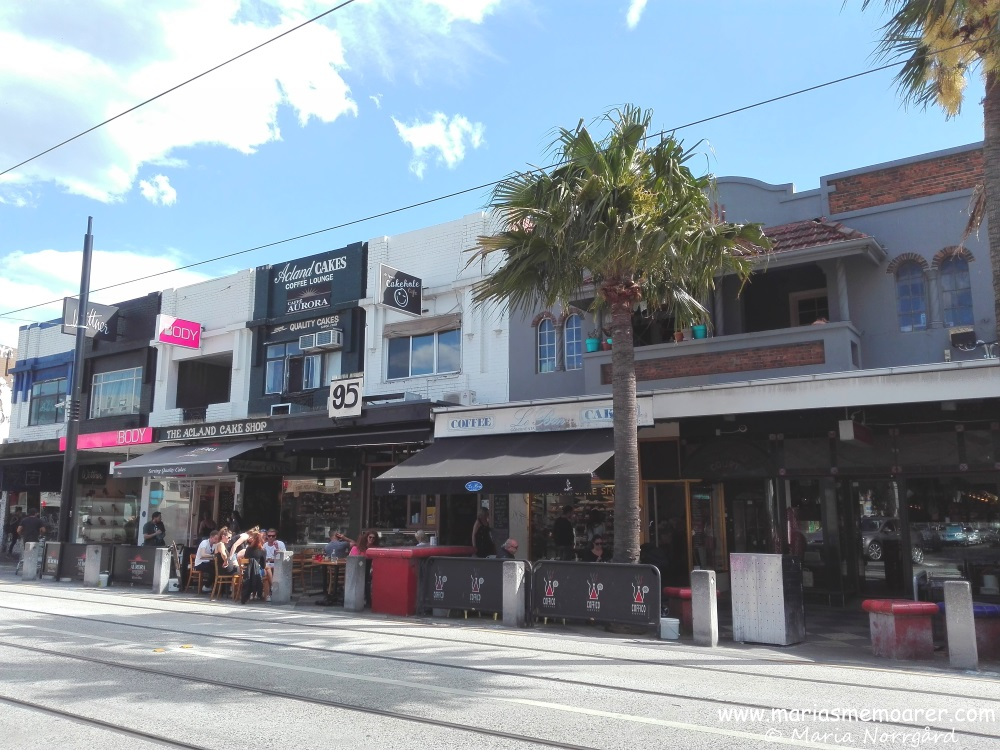 commercial area of Acland street, St Kilda, Melbs
