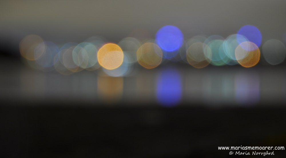 bokeh version of skyline, Melbourne