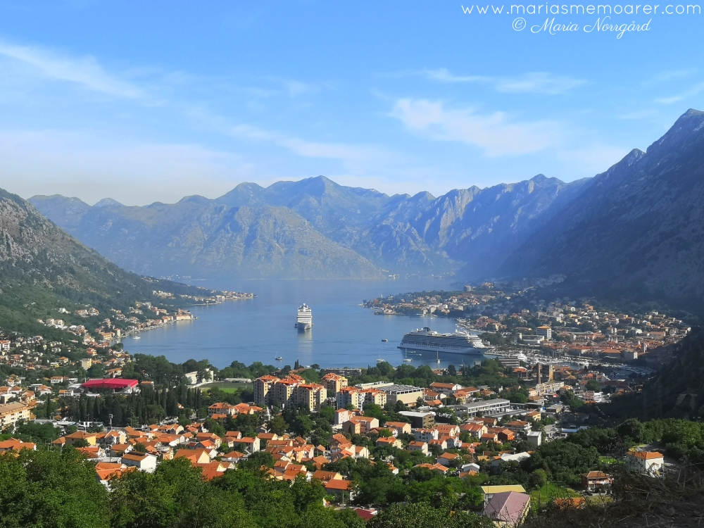 Great Montenegro Tour - vyer över Kotor Bay / views from Serpentine Road