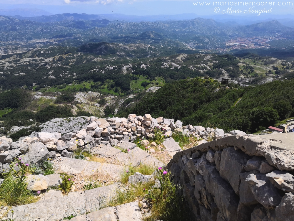 walking in Montenegro - Mausoleum on second highest peak of Lovcen