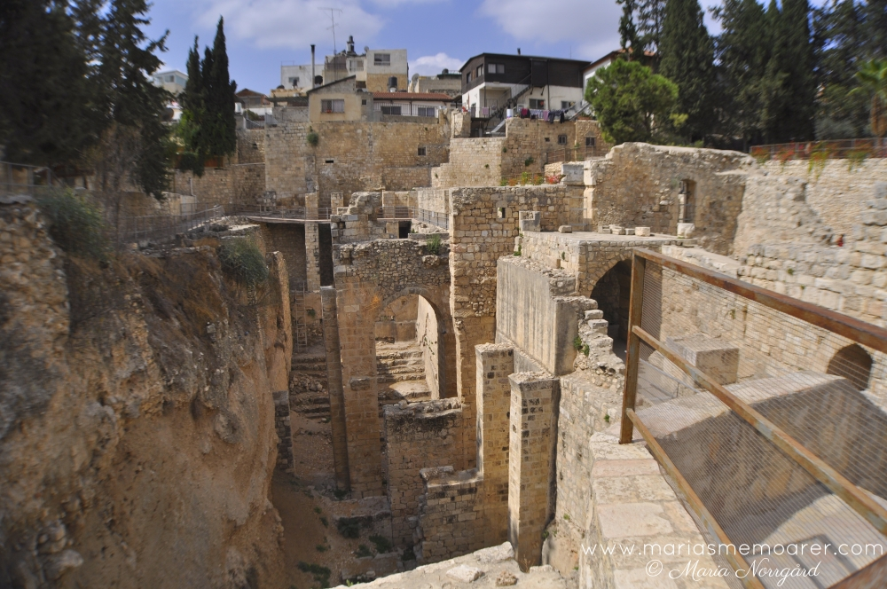 religiösa och arkeologiska sevärdheter i Jerusalem -Betesda / Pool of Bethesda - religious and archaeological sites in Jerusalem