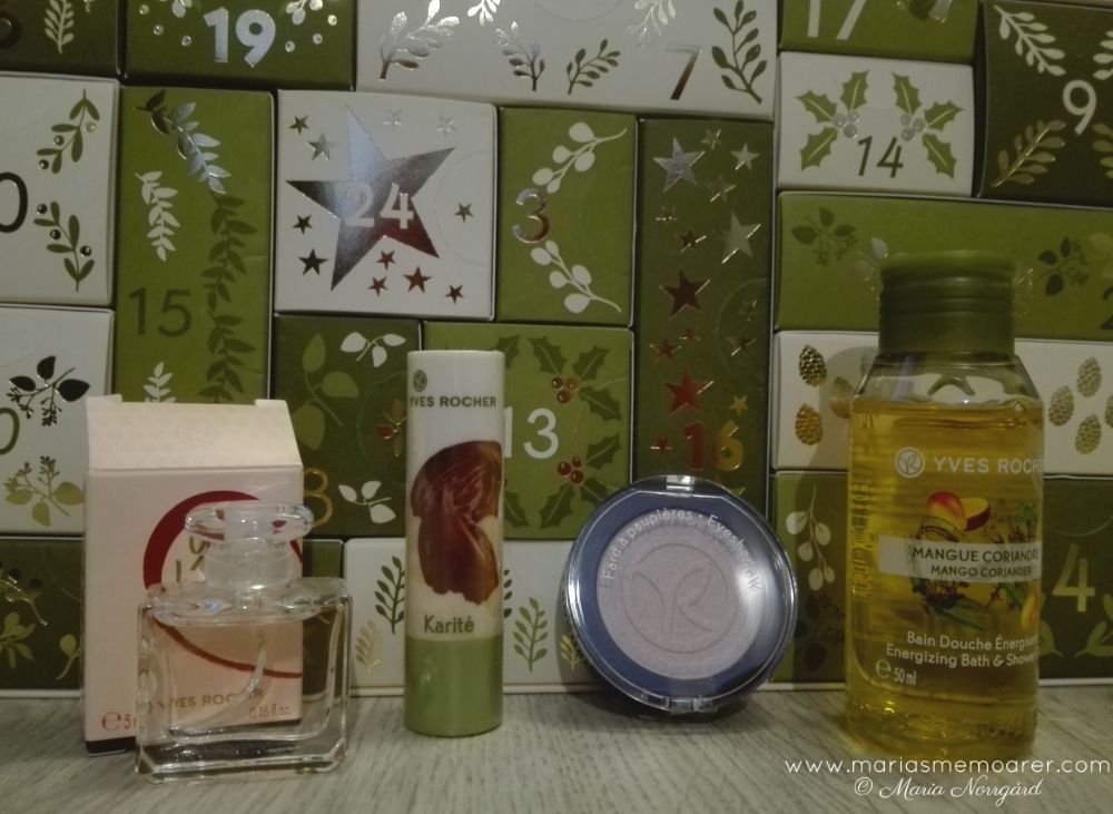vuxenjulkalendrar: beautykalender i budgetklassen från Yves Rocher / budget beauty advent calendar from Yves Rocher