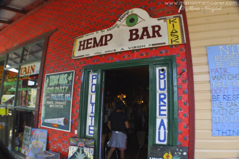 hemp bar in hippie town Nimbin, NSW