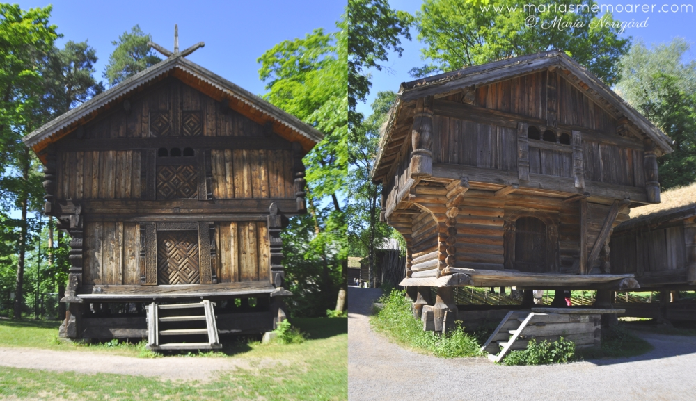 Norwegian Museum of Cultural History in Oslo, old  Norwegian wooden houses