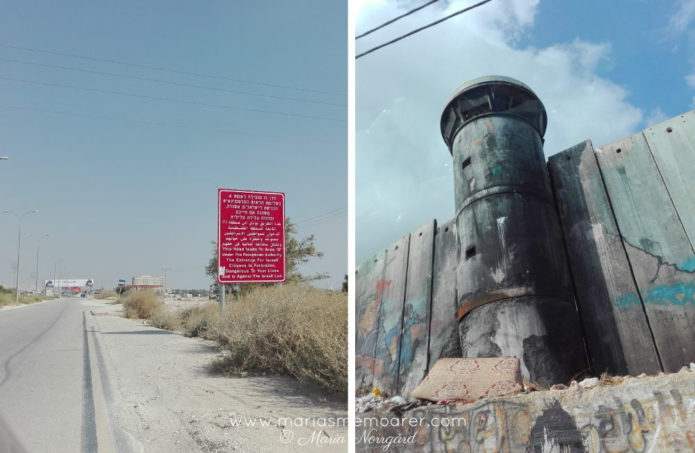travel to conflict zones - West Bank / Palestine /// resa till konfliktzon, muren och Area A-skylt