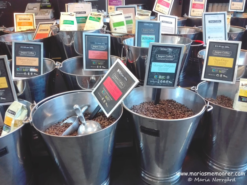 Coffee beans on Prahran Market, Melbourne