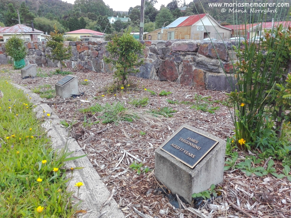North Mount Lyell mine disaster memoarial in Queenstown