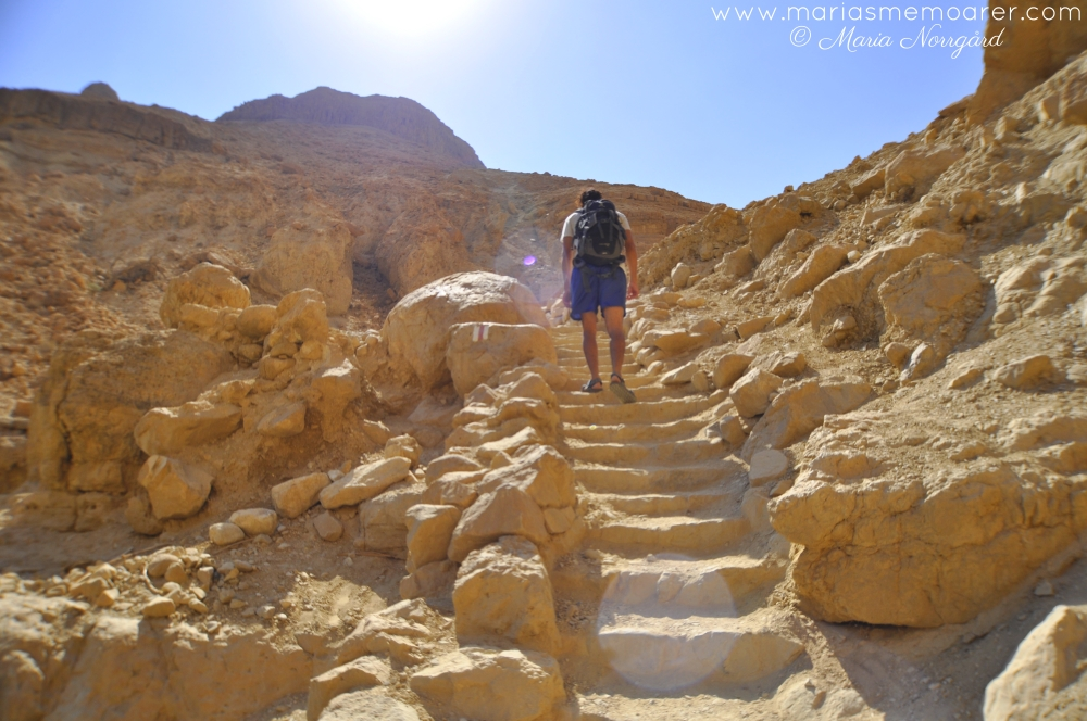 hiking in Judean Desert, Israel