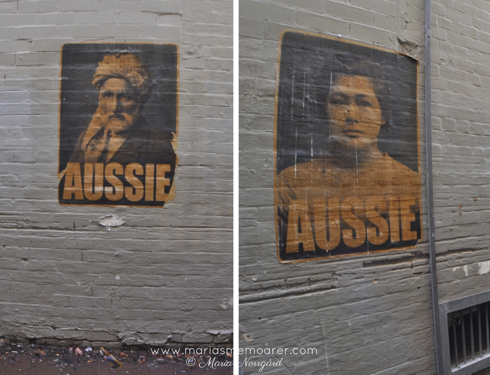 what is a real aussie, poster gatukonst i Perth, Australien