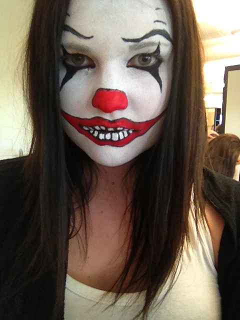 Halloween Sminkningar Clown.Jessicaerikssons