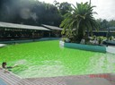 stayed at a holiday park where they have mineral pool, lovely nice and warm
