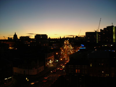 View of Nottingham from Sara's flat!!