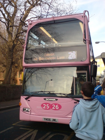 pink buses in reading!