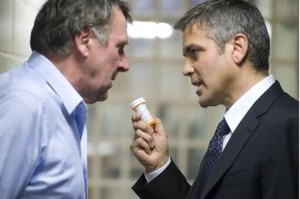 Tom Wilkinson & George Clooney i Michael Clayton