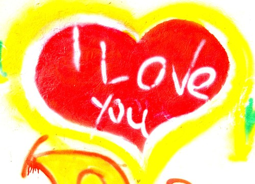 I love you grafitti