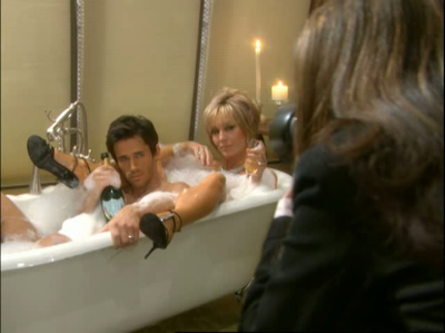 Lesley anne in the tub with a guy