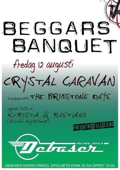 Beggars Banquet, 12 augusti (poster)