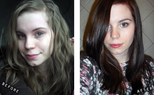 hannah-hår makeover, before&after